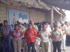 Personas del Centro Penitenciario durante la celebración de la Eucaristía
